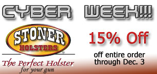 Stoner Holsters Cyber Week Save 15%