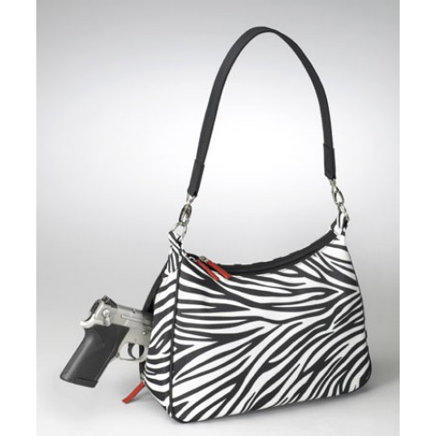 Concealed Carry Basic Hobo Handbag Zebra